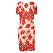 Buy Phase Eight Ariel Lace Dress, Geranium/Beige Online at johnlewis.com