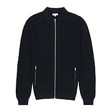 Buy Reiss Summerford Collared Zip Cardigan Online at johnlewis.com