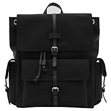 Buy Reiss Sydney Textured Backpack, Black Online at johnlewis.com