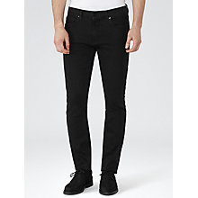 Buy Reiss Benares Straight Jeans, Black Online at johnlewis.com