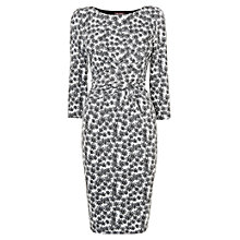 Buy Phase Eight Daisy Textured Dress, Black/White Online at johnlewis.com