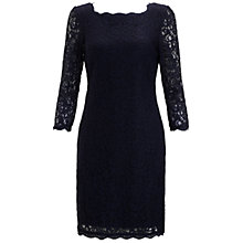 Buy Adrianna Papell Cropped Sleeve Lace Dress, Navy Online at johnlewis.com