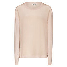 Buy Reiss Barton Silk Front Knit Jumper Online at johnlewis.com