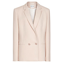 Buy Reiss Giacomo Double Breasted Jacket, Blush Online at johnlewis.com