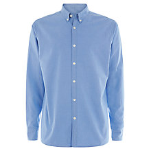 Buy Jaeger Plain Regular Oxford Shirt, Pastel Blue Online at johnlewis.com