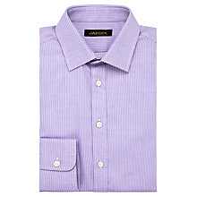 Buy Jaeger Fine Stripe Cotton Shirt, Lilac Online at johnlewis.com