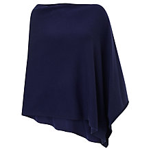 Buy John Lewis Cashmere Poncho, Navy Online at johnlewis.com