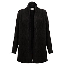 Buy East Mohair Cable Cardigan, Black Online at johnlewis.com