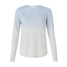 Buy Jigsaw Dip Dye Crew Neck Jumper, Blue Online at johnlewis.com