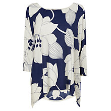 Buy Phase Eight Margo Printed Top, Ink/Ivory Online at johnlewis.com