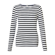 Buy Jigsaw Retro Jersey Stripe T-Shirt Online at johnlewis.com