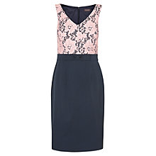 Buy Phase Eight Tiana Lace Dress, Navy/Powder Online at johnlewis.com