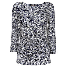 Buy Phase Eight Mona Micro Spotted Top, Navy/White Online at johnlewis.com