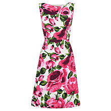 Buy Phase Eight Bergamot Dress, Pink/White Online at johnlewis.com