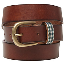 Buy White Stuff Taped Keeper Belt, Tan Online at johnlewis.com