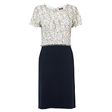 Buy Phase Eight Meryl Lace Knit Dress, Navy/Cream Online at johnlewis.com