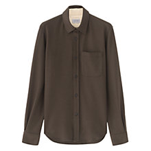 Buy Jigsaw Wool Jersey Overshirt, Brown Online at johnlewis.com