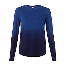 Buy Jigsaw Dip Dye Crew Jumper, Navy Online at johnlewis.com