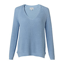 Buy Jigsaw Deep V-Neck Ribbed Jumper Online at johnlewis.com