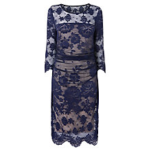 Buy Phase Eight Alicia Lace Dress, Navy/Nude Online at johnlewis.com