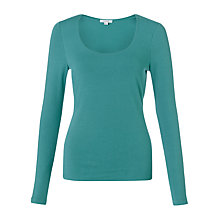 Buy Jigsaw Double Front Scoop Tee Online at johnlewis.com