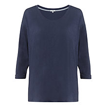 Buy Jigsaw Slub Dropped Top, Washed Navy Online at johnlewis.com