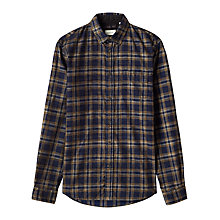 Buy Jigsaw Check Slim Button Down Shirt, Navy Online at johnlewis.com