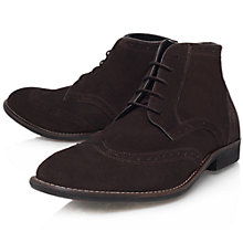 Buy KG by Kurt Geiger Swanson Desert Boots, Brown Online at johnlewis.com