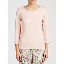 Buy Calvin Klein 3/4 Length Sleeve Top, Pale Pink Online at johnlewis.com