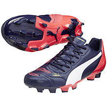 Buy Puma Evopower 4.2 FG Men'a Football Boots, Navy/Red Online at johnlewis.com