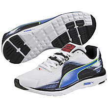 Buy Puma FAAS 500 v4 Men's Running Shoes, White/Strong Blue Online at johnlewis.com