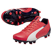 Buy Puma Evo Speed 5.3 Firm Ground Football Boots, Plasma Pink Online at johnlewis.com