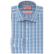 Buy Thomas Pink Fraser Check XL Sleeve Shirt, Blue/White Online at johnlewis.com