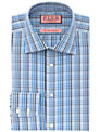 Thomas Pink Fraser Check XL Sleeve Shirt, Blue/White