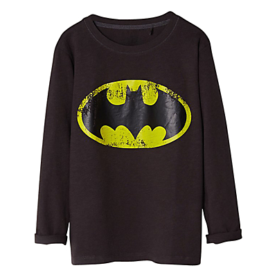 Mango kids boys batman superhero long sleeve t shirt black Boys superhero t shirts