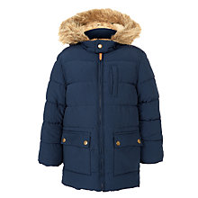Buy John Lewis Boy Tom Longer Line Puffer Jacket, Navy Online at johnlewis.com