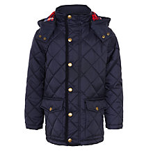 Buy John Lewis Boy Quilted Hooded Jacket, Navy Online at johnlewis.com