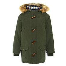 Buy John Lewis Boy Duffle Jacket, Khaki Online at johnlewis.com