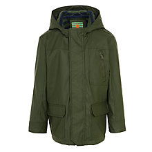 Buy John Lewis Boy Shindig Rain Mac, Forest Green Online at johnlewis.com