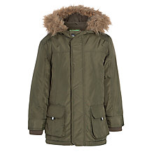 Buy John Lewis Boy Collins Faux Fur Trim Parka Online at johnlewis.com