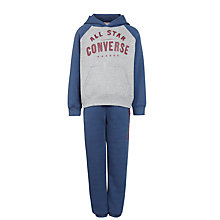 Buy Converse Boys' Two Piece Tracksuit, Navy/Grey Online at johnlewis.com