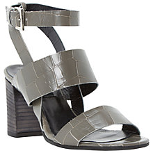 Buy Dune Black Margot Croc Sandals, Grey Online at johnlewis.com