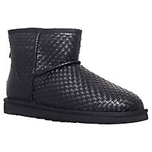 Buy UGG Classic Mini Woven Ankle Boots, Black Online at johnlewis.com