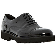 Buy Dune Black Foyer Patent Brogues, Black Online at johnlewis.com