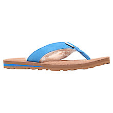 Buy UGG Tasmina Suede Flat Toe Post Flip Flops Online at johnlewis.com