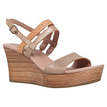 Buy UGG Lira Wedge Sandals, Gold Online at johnlewis.com