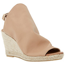 Buy Dune Black Klarra Leather Wedge Sandals, Nude Online at johnlewis.com