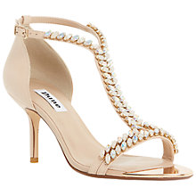 Buy Dune Melodee Embellished Leather Sandals, Nude Online at johnlewis.com