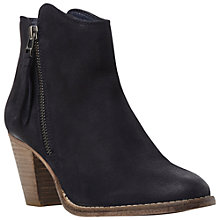 Buy Dune Pollie Leather Western Style Mid Heel Ankle Boots Online at johnlewis.com