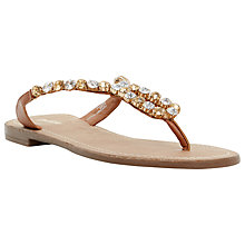 Buy Dune Naomie Leather Jewel Embellished Flip Flops Online at johnlewis.com